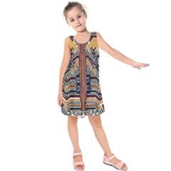 Traditional Batik Indonesia Pattern Kids  Sleeveless Dress