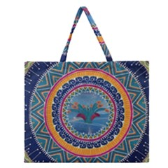 Traditional Pakistani Art Zipper Large Tote Bag by BangZart
