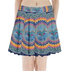 Traditional Pakistani Art Pleated Mini Skirt