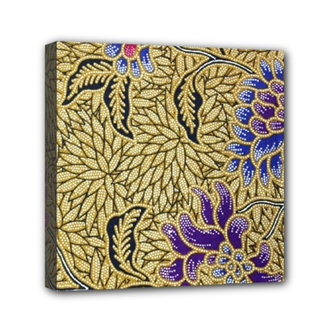 Traditional Art Batik Pattern Mini Canvas 6  X 6  by BangZart