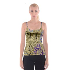 Traditional Art Batik Pattern Spaghetti Strap Top