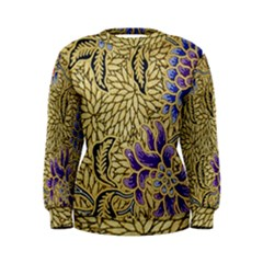 Traditional Art Batik Pattern Women s Sweatshirt
