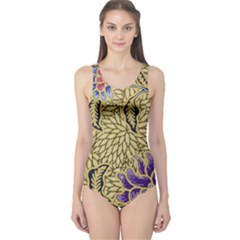 Traditional Art Batik Pattern One Piece Swimsuit