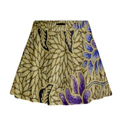 Traditional Art Batik Pattern Mini Flare Skirt