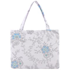 Traditional Art Batik Flower Pattern Mini Tote Bag