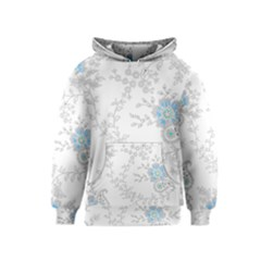 Traditional Art Batik Flower Pattern Kids  Pullover Hoodie