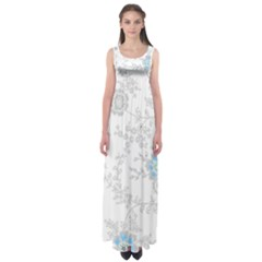 Traditional Art Batik Flower Pattern Empire Waist Maxi Dress