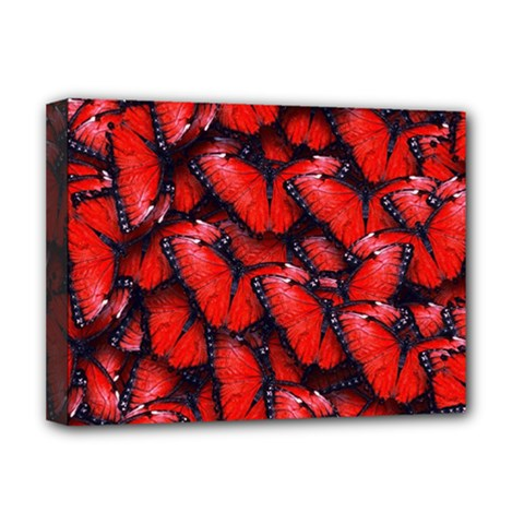 The Red Butterflies Sticking Together In The Nature Deluxe Canvas 16  X 12   by BangZart