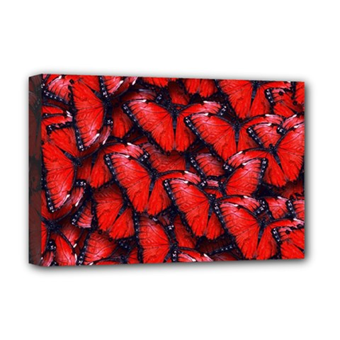 The Red Butterflies Sticking Together In The Nature Deluxe Canvas 18  X 12
