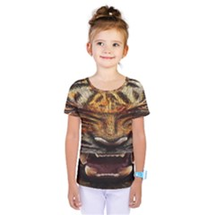 Tiger Face Kids  One Piece Tee