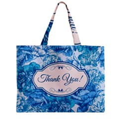 Thank You Medium Zipper Tote Bag