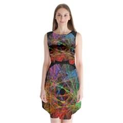 The Art Links Pi Sleeveless Chiffon Dress