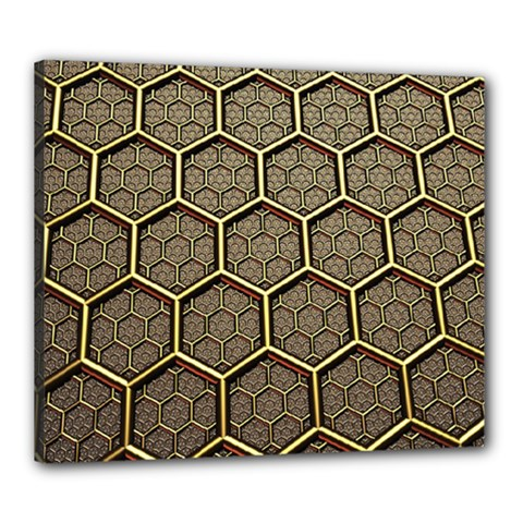 Texture Hexagon Pattern Canvas 24  X 20  by BangZart