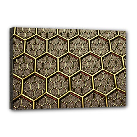 Texture Hexagon Pattern Canvas 18  X 12
