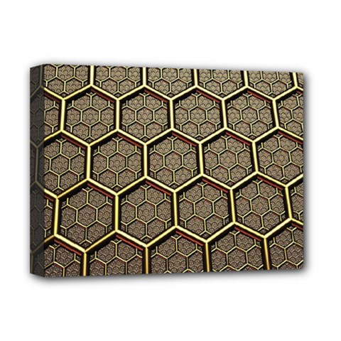 Texture Hexagon Pattern Deluxe Canvas 16  X 12   by BangZart