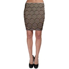 Texture Hexagon Pattern Bodycon Skirt