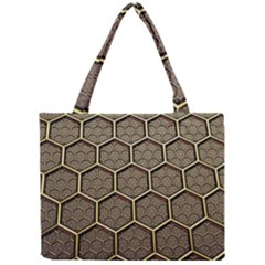 Texture Hexagon Pattern Mini Tote Bag