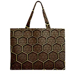 Texture Hexagon Pattern Zipper Mini Tote Bag by BangZart
