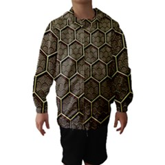 Texture Hexagon Pattern Hooded Wind Breaker (kids)