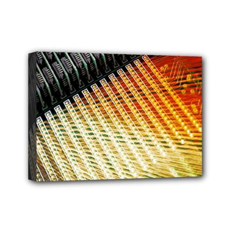 Technology Circuit Mini Canvas 7  X 5
