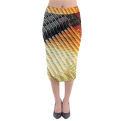 Technology Circuit Midi Pencil Skirt