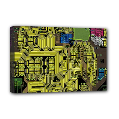 Technology Circuit Board Deluxe Canvas 18  X 12   by BangZart