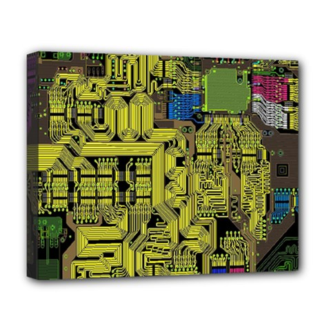 Technology Circuit Board Deluxe Canvas 20  X 16   by BangZart