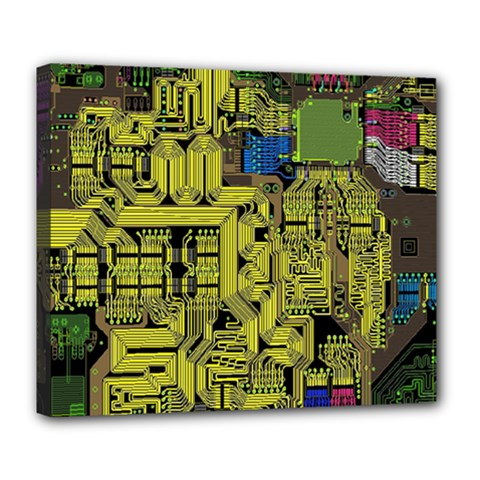 Technology Circuit Board Deluxe Canvas 24  X 20
