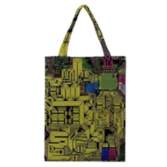 Technology Circuit Board Classic Tote Bag by BangZart
