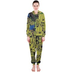 Technology Circuit Board Hooded Jumpsuit (ladies)