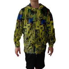 Technology Circuit Board Hooded Wind Breaker (kids)