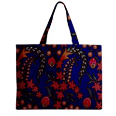 Texture Batik Fabric Zipper Mini Tote Bag