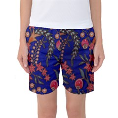 Texture Batik Fabric Women s Basketball Shorts