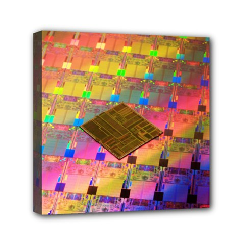 Technology Circuit Pentium Die Mini Canvas 6  X 6  by BangZart
