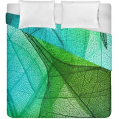 Sunlight Filtering Through Transparent Leaves Green Blue Duvet Cover Double Side (king Size) by BangZart