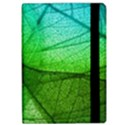 Sunlight Filtering Through Transparent Leaves Green Blue Apple iPad Pro 9.7   Flip Case View2