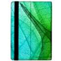 Sunlight Filtering Through Transparent Leaves Green Blue Apple iPad Pro 9.7   Flip Case View4