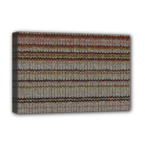 Stripy Knitted Wool Fabric Texture Deluxe Canvas 18  X 12   by BangZart