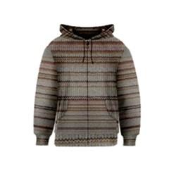 Stripy Knitted Wool Fabric Texture Kids  Zipper Hoodie