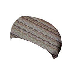 Stripy Knitted Wool Fabric Texture Yoga Headband