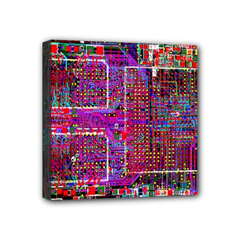 Technology Circuit Board Layout Pattern Mini Canvas 4  X 4  by BangZart