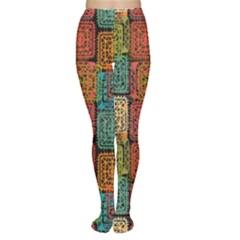 Stract Decorative Ethnic Seamless Pattern Aztec Ornament Tribal Art Lace Folk Geometric Background C Women s Tights
