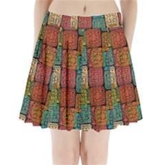 Stract Decorative Ethnic Seamless Pattern Aztec Ornament Tribal Art Lace Folk Geometric Background C Pleated Mini Skirt