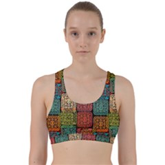 Stract Decorative Ethnic Seamless Pattern Aztec Ornament Tribal Art Lace Folk Geometric Background C Back Weave Sports Bra
