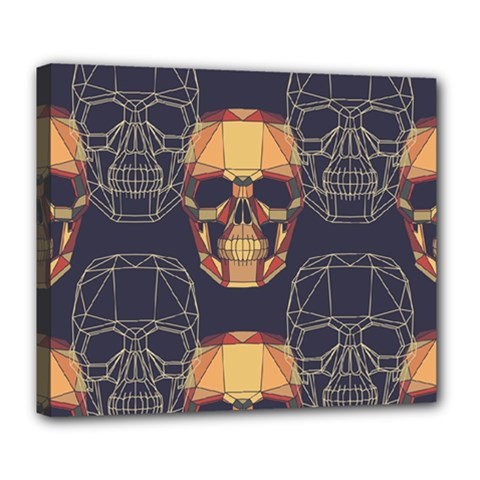 Skull Pattern Deluxe Canvas 24  X 20   by BangZart