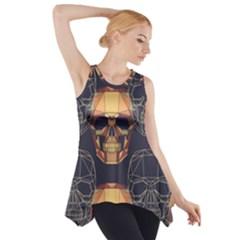 Skull Pattern Side Drop Tank Tunic