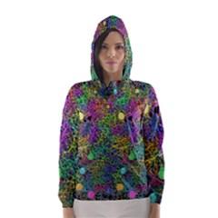 Starbursts Biploar Spring Colors Nature Hooded Wind Breaker (women)