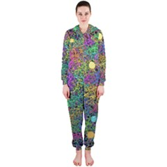 Starbursts Biploar Spring Colors Nature Hooded Jumpsuit (ladies)