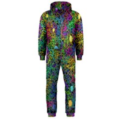Starbursts Biploar Spring Colors Nature Hooded Jumpsuit (men)