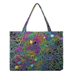 Starbursts Biploar Spring Colors Nature Medium Tote Bag by BangZart
